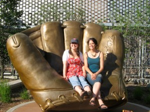 Sitting in the golden glove