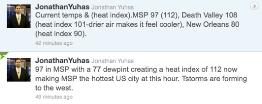 Weatherman's tweet