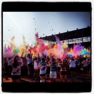 Instagrammed photo of the Color Run