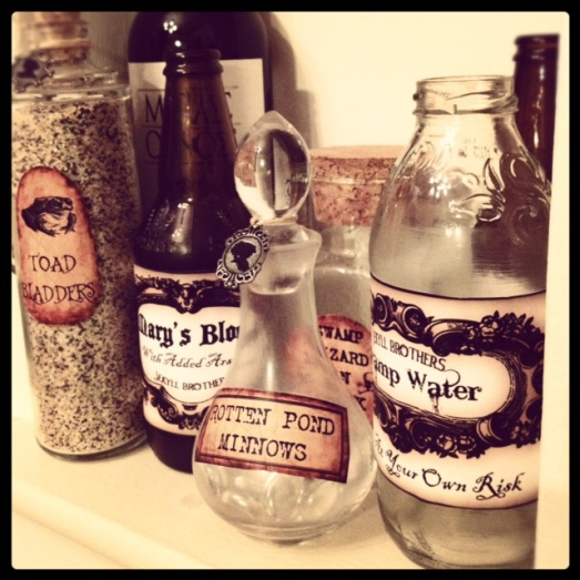 instagram photo of apothecary jars