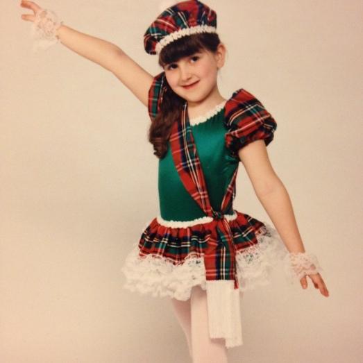 Rachel as a dancer