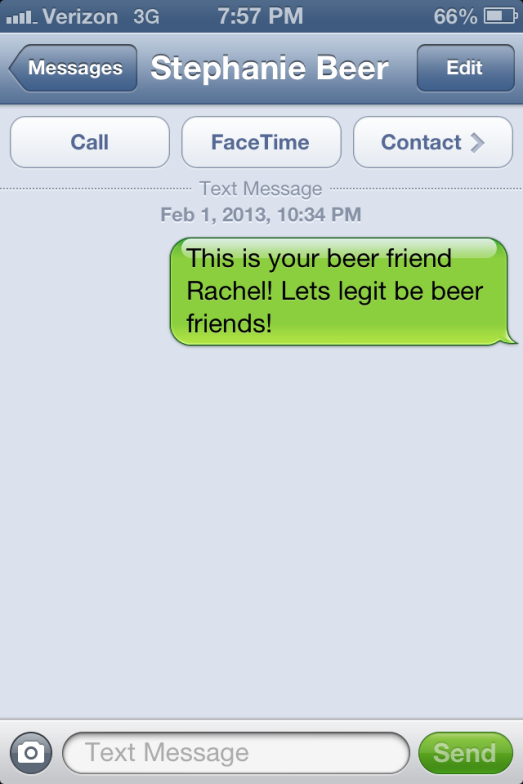 Legit beer friends.
