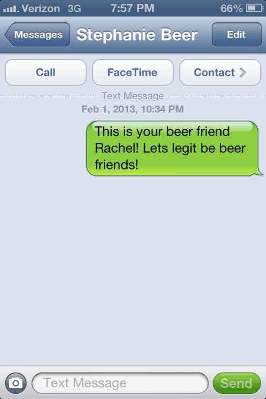Legit beer friends.